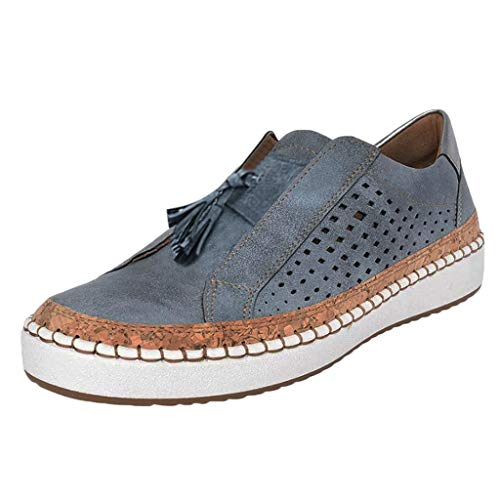 Save %63 Now! Women's Platform Sneakers Casual Hollow-Out Slip On Shoes Flat Faux Suede Perforated...