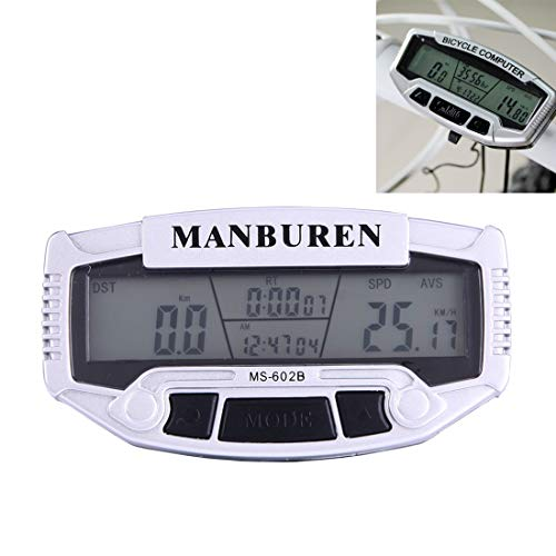 Sevenplusone Fietsreparatieset, kilometerteller, multifunctioneel LCD-display (MS-602B) voor fiets