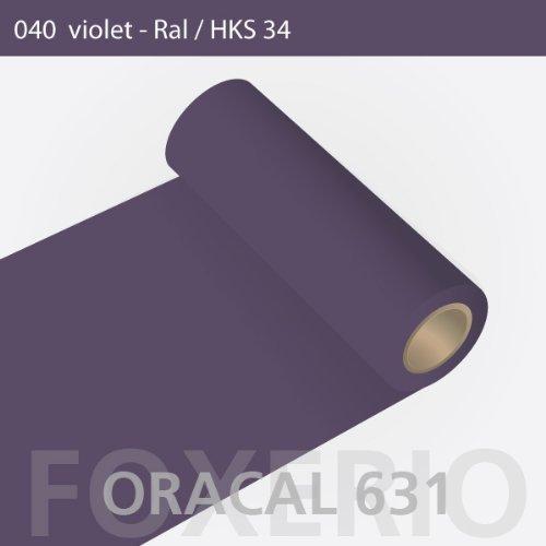 Orafol - Oracal 631 - 31cm Rolle - 5m (Laufmeter) - Violet / matt, A22oracal - 631 - 5m - 31cm - 10 - kl - Autofolie / Möbelfolie / Küchenfolie
