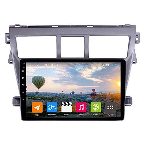 WY-CAR Android 8.1 Reproductor Multimedia De Automóviles para Toyota VIOS Yaris 2007-2013, Pantalla Táctil Capacitiva De 9 Pulgadas, FM/RDS/Bluetooth/MirrorLink/SWC/Cámara De Vista Posterior