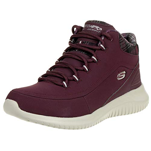 Skechers Damen Ultra Flex Hohe Sneaker, Rot (Burgundy 12918-Burg), 40 EU