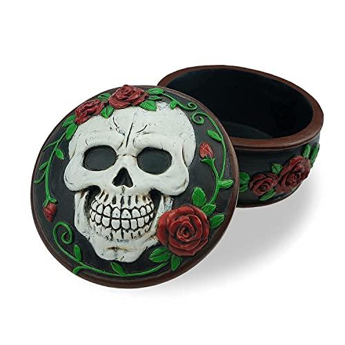 Handmade Goth Vintage Sugar Skull Keepsake Trinket Jewelry Stash Box...