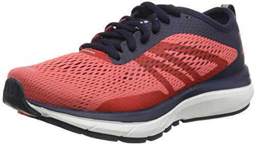 Salomon Women's Sonic RA Running Shoe, Dubarry/Navy Blazer/White, 10.5 B(M) US