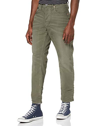 G-STAR RAW Heren Loic Relaxed Tapered Colored Loose Fit Jeans, groen (Dk Shamrock 9860-7159), 28W x 32L