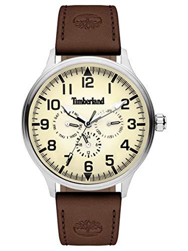 Timberland Reloj Multiesfera para Hombre de Cuarzo con Correa en Cuero TBL15270JS.14