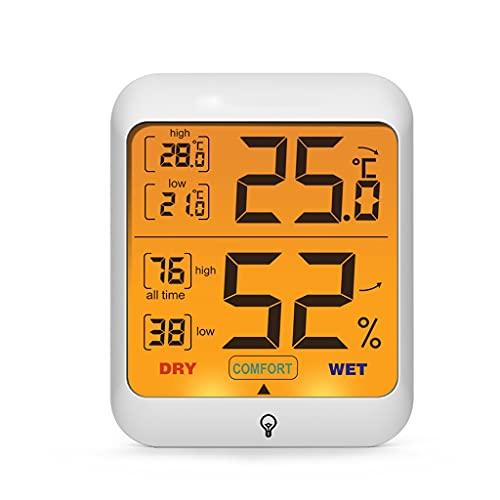 WYBFZTT-188 Termometro Digitale Hygrometer Retroilluminazione for Interni Termometro for Interni Temperatura E umidità Monitor Meteo