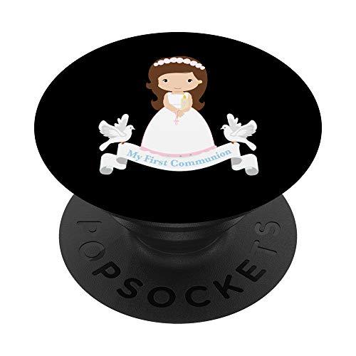 Mi Primera Comunión Camiseta Regalo Niños Morena Hija Niña PopSockets PopGrip: Agarre intercambiable para Teléfonos y Tabletas