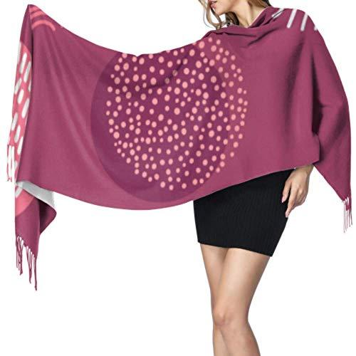 Disfrute de un hermoso arte retro bufanda de cachemira de vino tinto para mujer bufanda de cachemira o chal 77x27 pulgadas / 196x68cm grande suave pashmina extra cálida