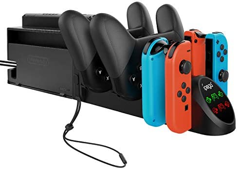 Charger Dock for Nintendo Switch Joy con and Pro Controller Charging Station Replacement Accessories product image