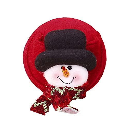 EMFGJ Posavasos de Navidad para copa de vino, funda de pie de Papá Noel, muñeco de nieve, para decoración de mesa de Navidad, muñeco de nieve
