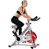 Sunny Health & Fitness Indoor Cycling Bike with 40 LB/18 KG Flywheel Quiet Belt Drive and Dual Felt / Magnetic Resistance