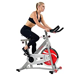 Sunny Health & Fitness Pro Indoor Cycling Bike with 40 L...