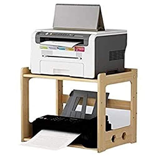 Estante Madera de impresora de escritorio / Fax Soportes de escritorio de oficina en rack de almacenamiento en rack ajustable de múltiples capas de la cocina del horno microondas estante estante multi