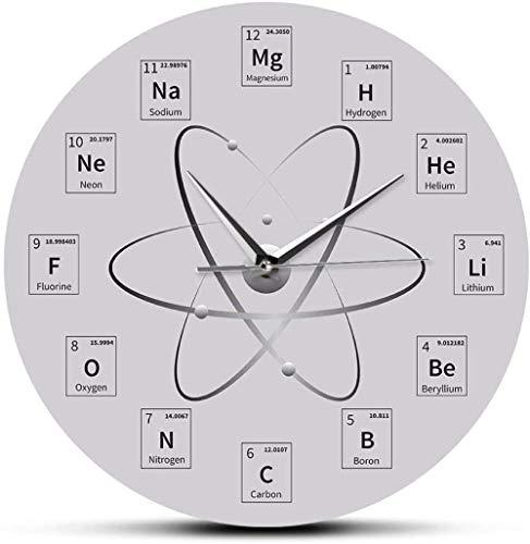 quanjiafu Wanduhr Chemische Zeit Periodensystem Wanduhr Molekulare Biochemie Kunst Wanduhr Uhr Atomuhr EIN Geschenk Von Chemistry Teacher_Wall Clock 30X30Cm