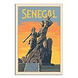 GANZAO Vintage-Reise-Poster Senegal, Afrika,