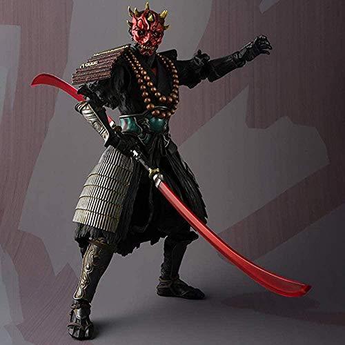 cheaaff Star Wars Anime Actionfigur Modell Darth Maul Statue Wohnkultur Sammlerstück Kinderspielzeug Geschenk 18CM