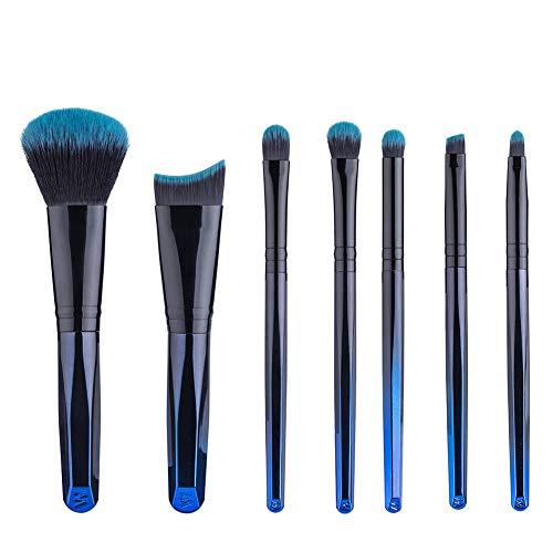 Lot de 12 Set Outils Pinceaux Maquillage Pinceaux Pour Le Yeux Ombre à Paupières Sourcils Shader Concealer Cosmetics Brush, D'or, Dégradé Bleu