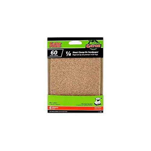 Gator Power 5033 60G Sandpaper, 4 1/2-Inch x 5 1/2-Inch