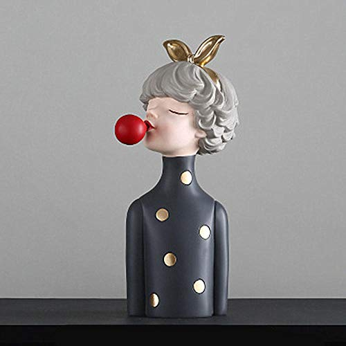 GLKHM Statues And Figurines Statue Ornament Sculpture Statue Lovely Girl Creative Study Bedroom Decoration