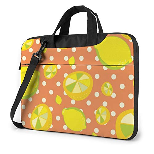 Yellow Fruit Lemon Tropical Orange Cute Laptop Case 14 Inch Computer Carrying Protective Case with Strap Bag