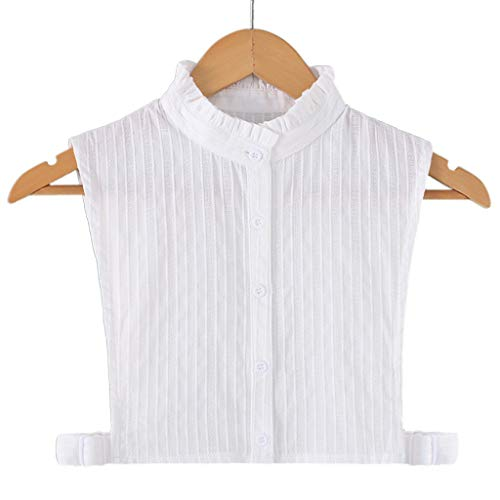 Tandou Bequem Damen Blusenkragen Baumwolle, Abnehmbare Krageneinsatz Für Pullover Accessoires