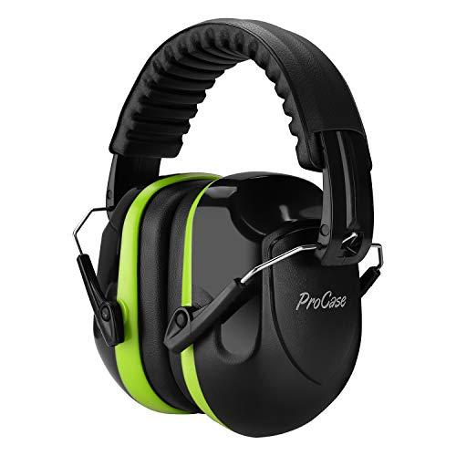 ProCase Casco Antiruido, Protector Auditivo SNR 34 dB Aislante de Ruido Profesional, Casco Insonorizado Protector de Oído para Campo de Disparo, Caza -Verde