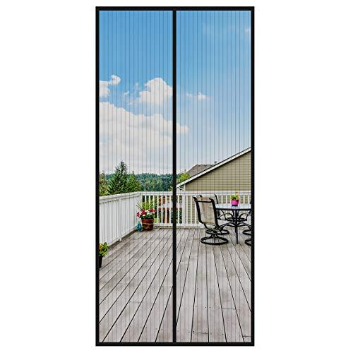 StepWorlf Puerta de Pantalla magnética Puerta Protectora magnética Reforzada Cortina de Insectos Anti-Mosca Cortina de Mosquito de Verano 100 * 190 cm
