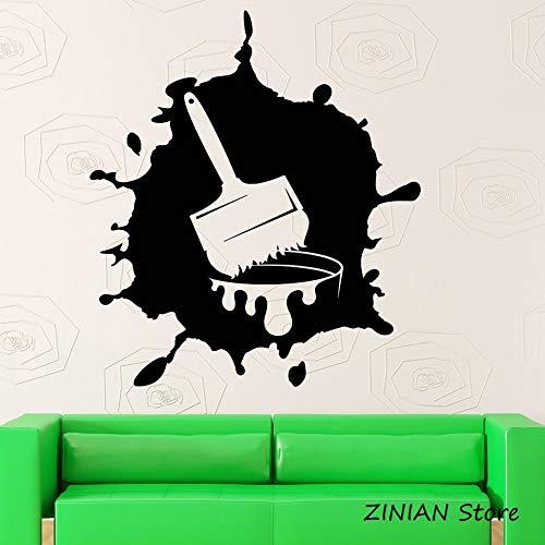 Verf vinyl muurstickers moderne kunst kamer decoratie zelfklevende vinyl muurstickers verwijderbare creatieve kunst stickers muurschildering slaapkamer <> 42x48cm