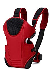 MACMILLAN AQUAFRESH Adjustable Baby Sling Front Carrier Safety Bags/Holding Belt/Head Support (Red and Black),Tech_Solution