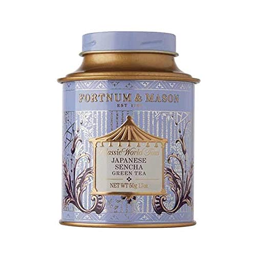 FORTNUM & MASON British Tea, té japonés Sencha, 1.76 oz de té Verde Suelto en una Caja de Regalo...