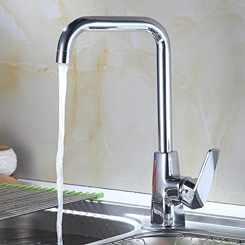 Küchenarmatur Mischbatterie Waschbecken Armatur Bad Badewannenarmatur Vertikale Kupfer Küche Heißes Und Kaltes Wasser Wasserhahn Single-Typ Waschbecken Waschbecken Edelstahl Wasserhahn