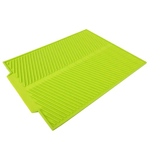 Siliconen Pot Houder Warmte Geïsoleerde Pad Hittebestendige Siliconen Drogen Mat Extra Grote Premium Bakken Gadget Keuken Tafelmat Groen