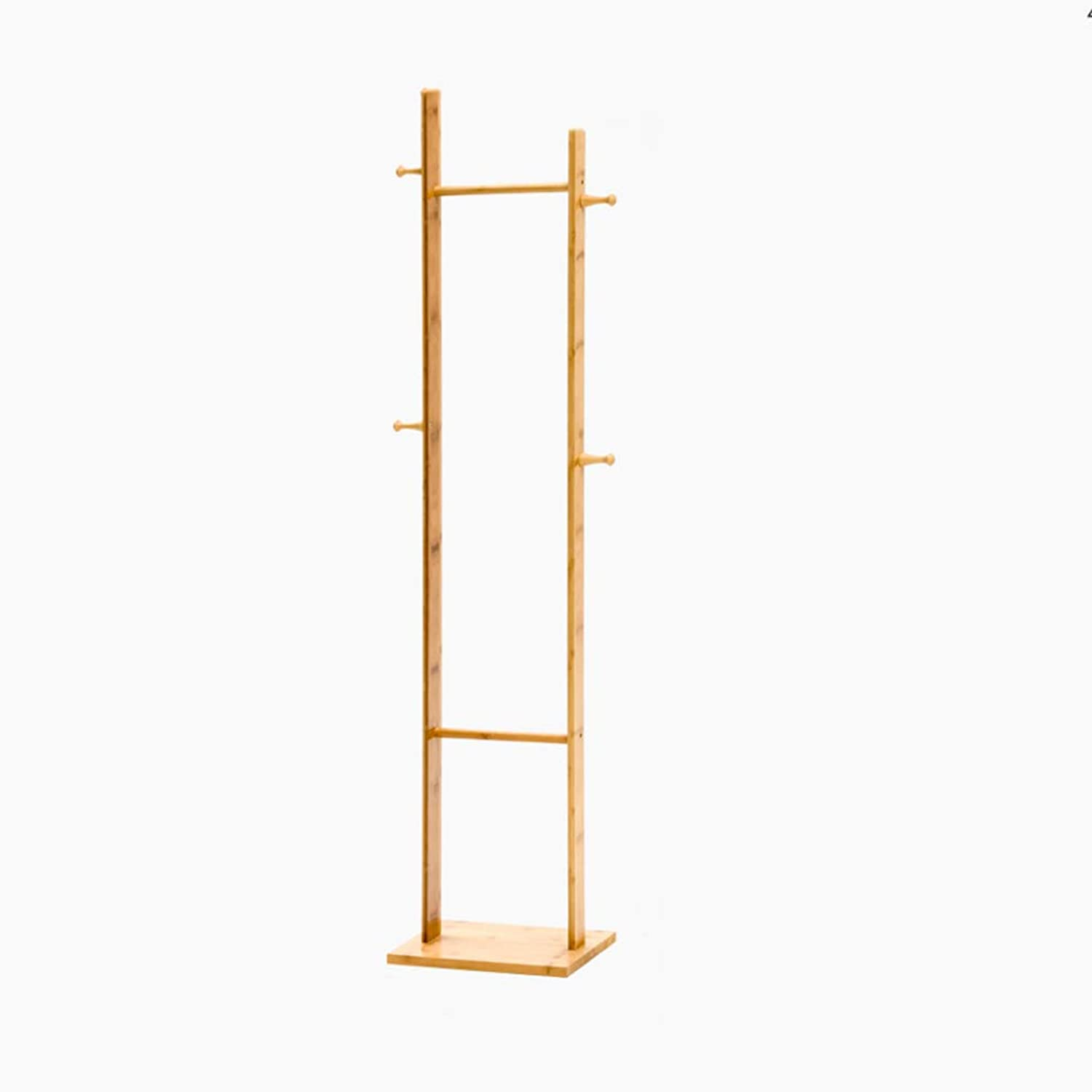 CIGONG-Coat rack Simple Modern Solid Wood Coat Rack Hanger Floor Stand Bedroom Storage Rack Living Room Home Square Base Hanger 163x24x33cm