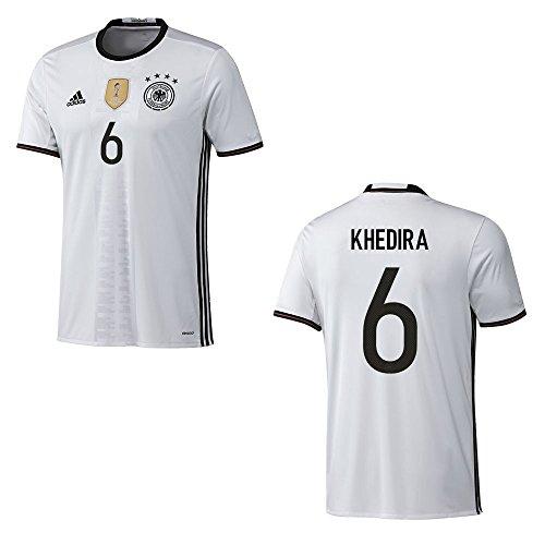 adidas DFB DEUTSCHLAND Trikot Home Herren EURO 2016 - KHEDIRA 6, Größe:3XL