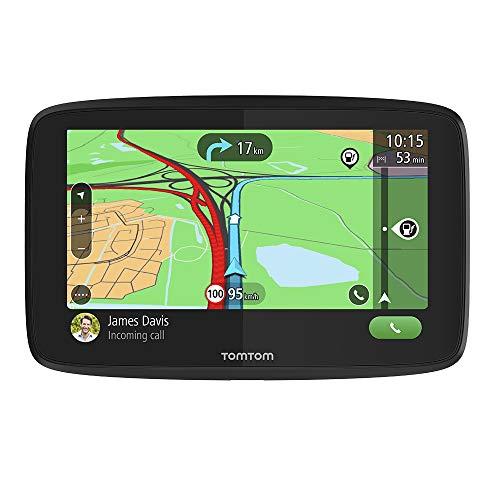 TomTom Navigationsgerät GO Essential  (6 Zoll, Stauvermeidung dank TomTom Traffic, Karten-Updates Europa, Freisprechen, Updates über WiFi, hochwertige Halterung, TMC)
