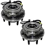 Detroit Axle - Both Front Wheel Hub and Bearings Assembly Replacement for 2005-2010 Ford F-250 F-350 Super Duty 4x4 with ABS DRW - 2pc Set