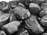 Saco Piedra Jardin Canto RODADO Negro 20-40 MM 20 KG
