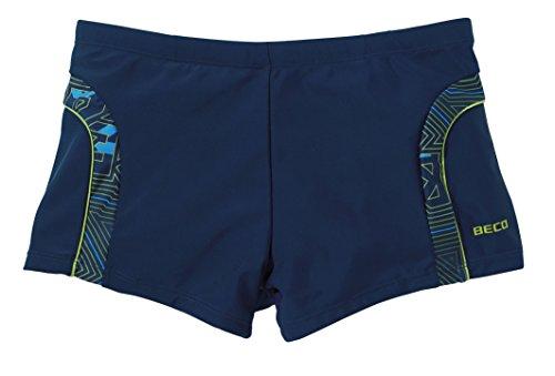 Beco Herren Badehose, Style: Square Leg, Blau/Bunt, 5, 8020