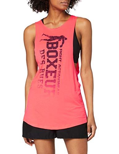 Boxeur Des Rues Serie Fight Activewear BXT-3077T, Canotta Donna, Rosa (Corallo), M