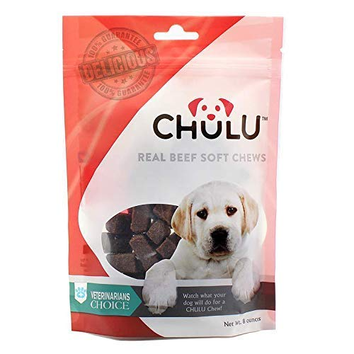 CHULU Soft Dog Treats for Big and Small Dogs - Organic Dog Treats for Puppy Training Made in USA - 100% Real Beef for a Healthy Dog