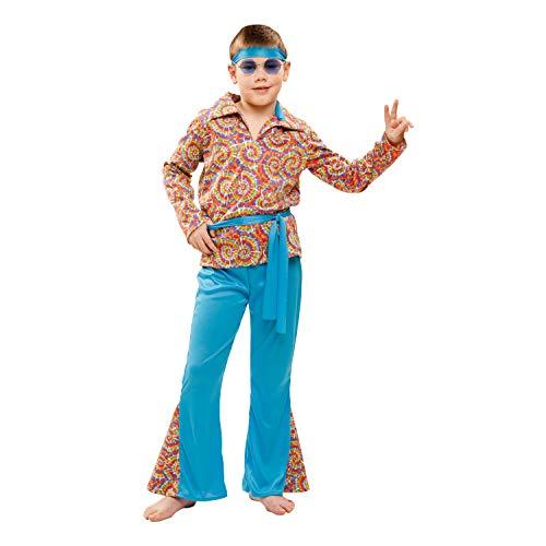 My Other Me-Costume da Hippie con vestito a motivo psichedelico, per bambino (Viving Costumes) 10-12 años