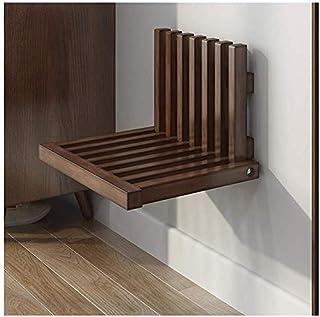 Wandmontage Opklapbare schoenenkruk Ultradunne verborgen portiekstoel Massief hout 150 kg belasting Eenvoudige installatie...