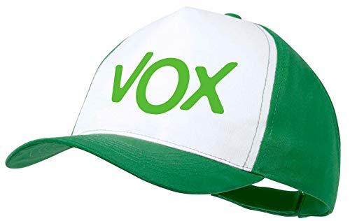 MERCHANDMANIA Gorra Verde Logo Partido VOX Color Cap