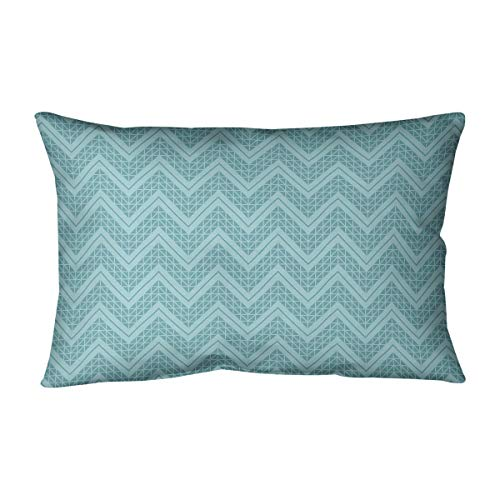 New ArtVerse Rhonda Cheval Reverse Monochromatic Hand Drawn Chevrons Pillow (w/Removable Insert) - C...