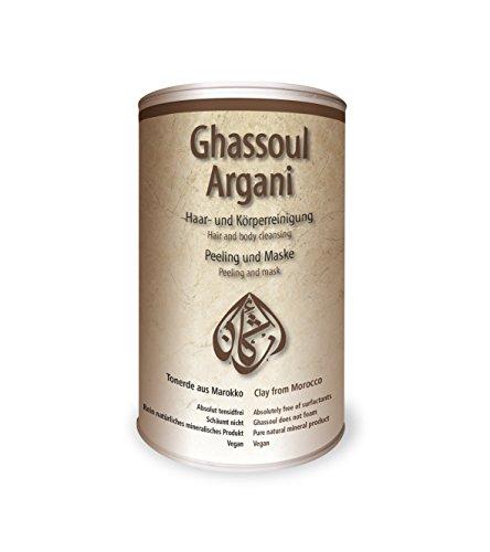 Argani Ghassoul 750g Rasul, vegan für Haar- & Körperreinigung, Peeling & Maske, Heilerde, Tonerde aus Marokko