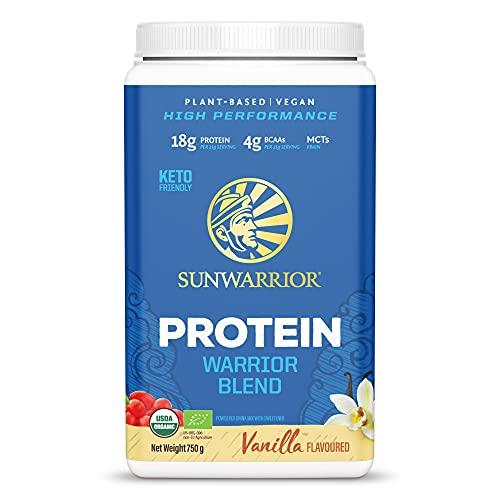 Sunwarrior Warrior Blend Organic Raw Vegan Protein Powder Vanilla, 750g