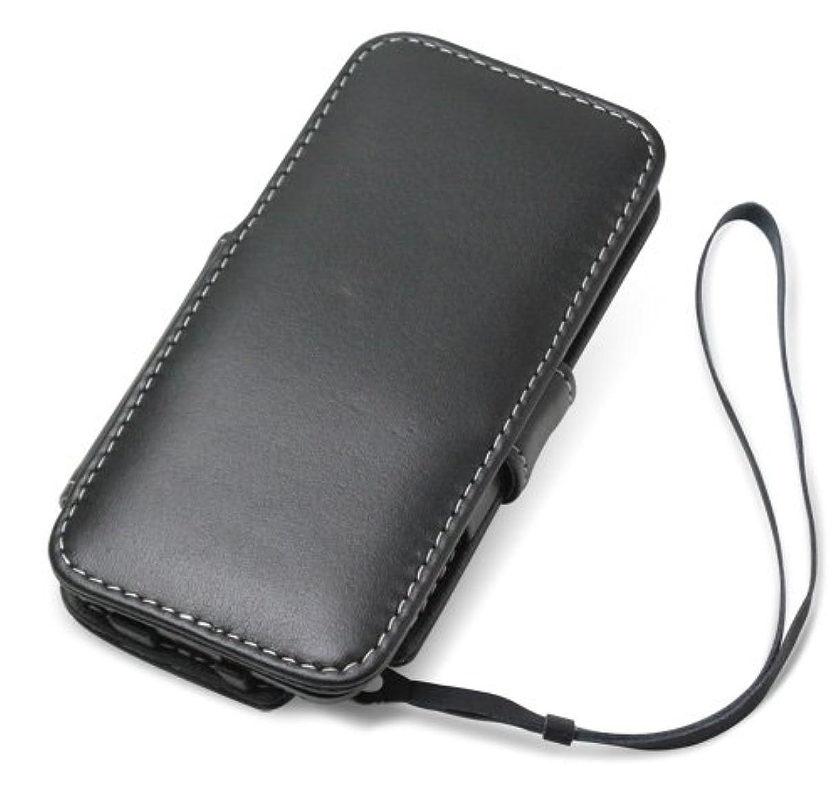 雑種ランプ接ぎ木PDAIR レザーケース for iPod touch(5th gen.) 横開きタイプ(ブラック) PALCIPDT5B/BL