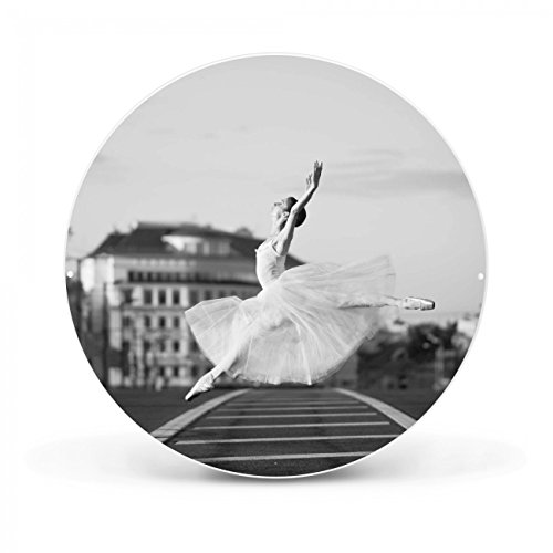 Design Magnettafel von banjado | Pinnwand magnetisch 47cm Ø | Memoboard mit Motiv Ballerina In Moskau | Magnetwand weiß aus Metall rund Ballerina In Moskau