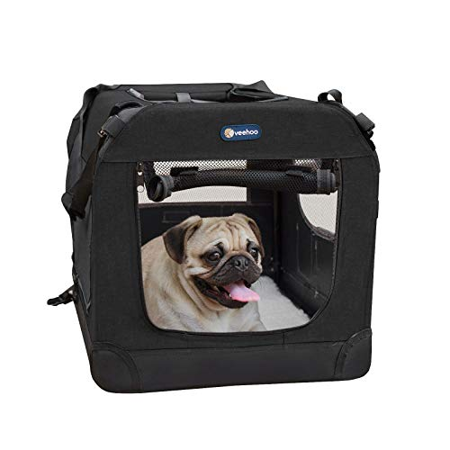 Soft Folding Dog Crate W/ 3 Doors Multiple Sizes Avail. $25.79 (40% OFF Coupon)
