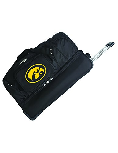 Save %12 Now! NCAA Iowa Hawkeyes Rolling Drop-Bottom Duffel Bag, 27-inches